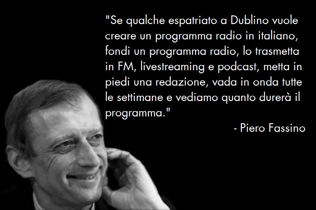 Piero fassino Radio Dublino